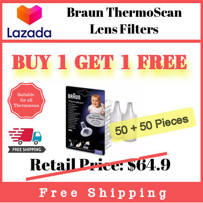 100 Pieces of Braun Ear Thermometer Thermoscan Lens Filter Probe Cover