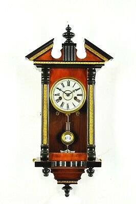 Gorgeous Antique German Junghans Spring Driven Miniature Wall Clock approx.1900