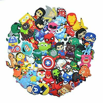 50 Mixed Pvc Shoe Charm Lot Different Shoe Charms Fit For Croc Jibbitz Wristband