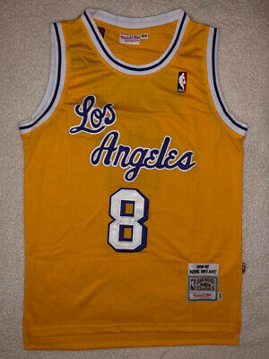NWT KOBE BRYANT Los Angeles Lakers #8 Hardwood Classics Stitched GOLD Jersey