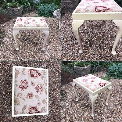 🌟Vintage Shabby Chic Wooden Dressing Table Piano Stool Chair