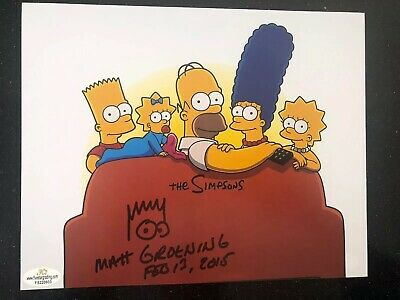 GENUINE HAND SIGNED MATT GROENING SIMPSONS 8x10