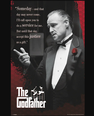 """The Godfather Someday Movie Quote Cool Wall Decor Art Print Poster 12"""" x 18"""""""