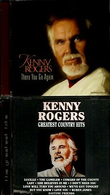 Kenny Rogers : There You Go Again   /   GREATEST COUNTRY HITS   (2 CD LOT)