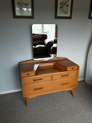 G Plan Brandon E Gomme natural oak Dressing table with mirror Mid Century