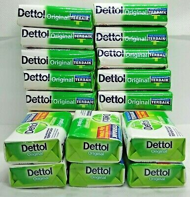 LOT OF 16 BARS DETTOL ANTI BAKTERI  BAR SOAP ORIGINAL  70g.