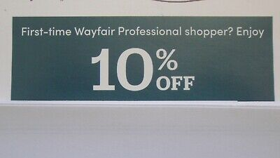 New WAYFAIR PROFESSIONAL 10% OFF 1ST ORDER, EXP. 5/31/2020 Fast Delivery
