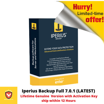 Iperius Backup 7 ☆ LATEST ☆ Lifetime ☆ 1 PC ☆ Genuine Version with Serial Key