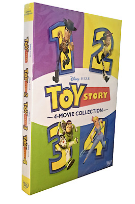Toy Story 1-4 (DVD 6 Disc Set, 2019 - 4 Movie Collection) New & Sealed FREE Ship