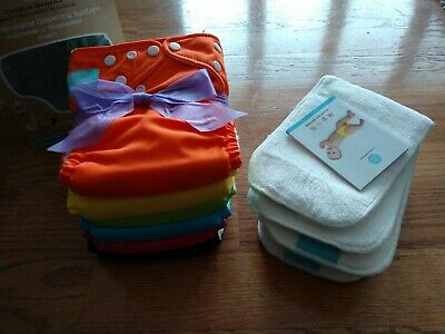 Charlie Banana 2 in 1 reusable diaper system Cloth Diaper 6 pack and 12 inserts