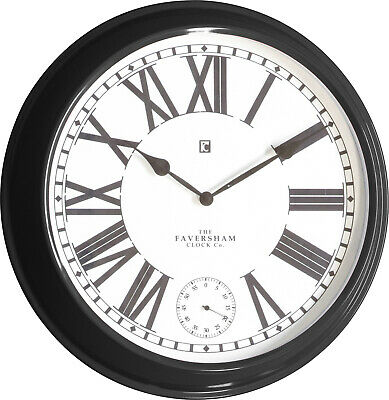 NEW 52cm Faversham Metal Wall Clock - Bella Casa,Clocks