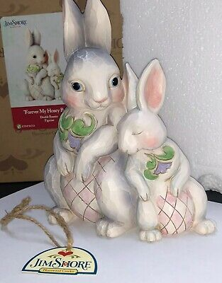 Jim Shore Heartwood Creek - Easter Collection - Forever My Honey Bunny As New