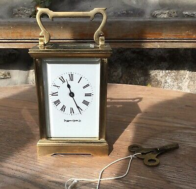 Brass Caged Mappin & Webb Carriage Clock With Key