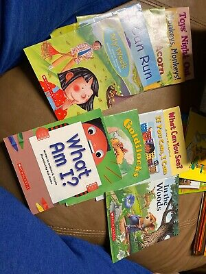 Lot 10 Childrens Kids Books Early Readers Beginning Scholastic Learn to Read