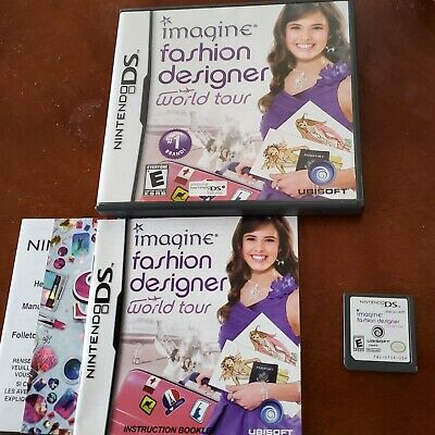 Nintendo Ds Game Complete Dsi Dsl 3ds Imagine Fashion Designer World Tour 4 14 Picclick