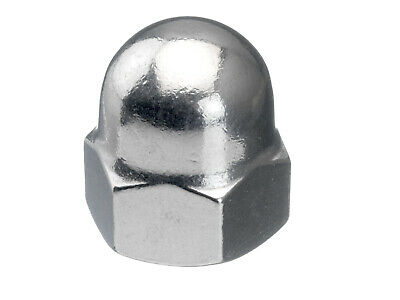 50x Hexagon domed cap nut, high type DIN 1587 Stainless steel A4 50 M10