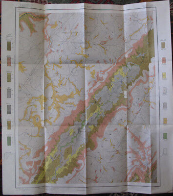 Color Soil Survey Map Pikeville Sheet Tennessee Cold Spring Melvine TN 1903