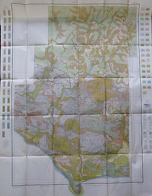 Folded Color Soil Survey Map Pope County Arkansas Russellville Atkins Dover 1913