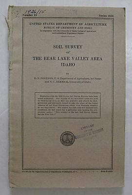Color Soil Survey Map Bear Lake Valley Area Idaho Montpelier Bloomington Paris