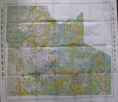 Color Soil Survey Map Laclede County Missouri Lebanon Phillipsburg Conway 1911