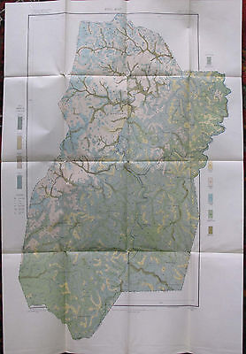 Folded Color Soil Survey Map Upshur County West Virginia Buckhannon Nixon 1905