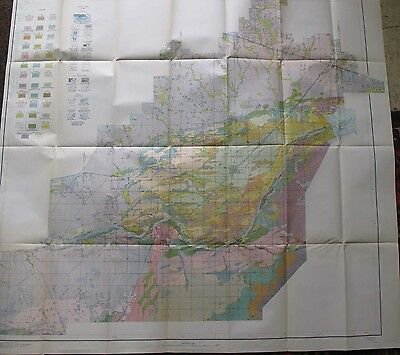 Minidoka Idaho Soil Survey Large Color Foldout Map 1934 Snake River Goose Creek