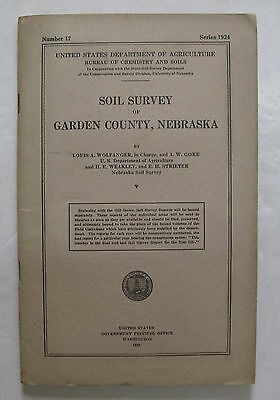 2 Sheet Color Soil Survey Map Garden County Nebraska Oshkosh Lewellen Lisco