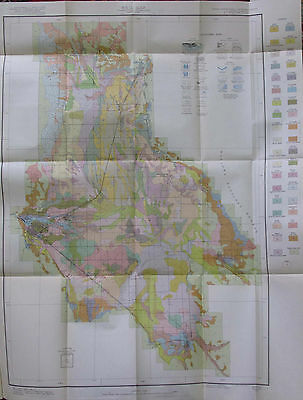 Color Soil Survey Map Grande Ronde Valley Oregon La Grande Union Cove 1930