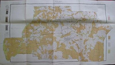 Folded Color Soil Survey Map Spalding County Georgia Griffin Orchard Hill 1905