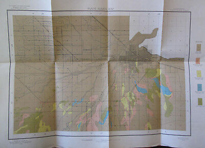Agriculture Folded Color Soil Survey Map Bakersfield Sheet California Kern 1904