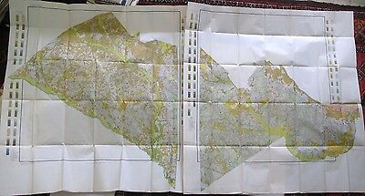 Large Folded 2 Sheet Color Soil Survey Map Orangeburg County South Carolina 1913