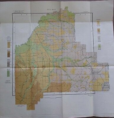 Soil Survey Map Scott County Indiana Scottsburg Lexington Austin Wooster 1904