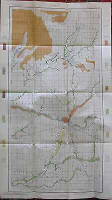 Color Soil Survey Map Madison County Indiana Anderson Alexandria Elwood 1903