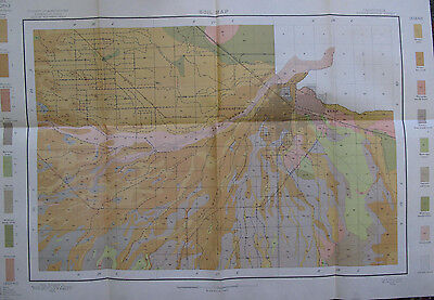 Folded Color Soil Survey & Alkali Map Bakersfield Sheet California Kern 1904