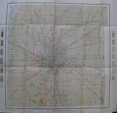 Soil Survey Map Marion Co Indiana Indianapolis Cumberland Augusta Southport 1907