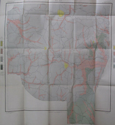 Color Soil Survey Map Henderson County Tennessee Lexington Hinson Springs 1905