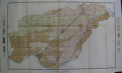 Folded Soil Survey Map Minidoka Idaho Acequia Rupert Heyburn Snake River 1907