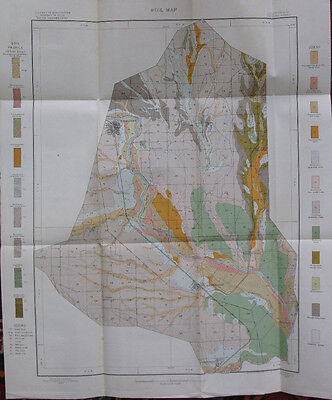 Folded Color Soil Survey Map Redding California Sheet Anderson Cottonwood 1907