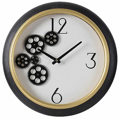NEW 40cm White & Gold Wall Clock - The Decor Store,Clocks