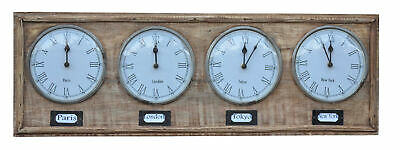 NEW Harmi Timber World Clock - The Decor Store,Clocks