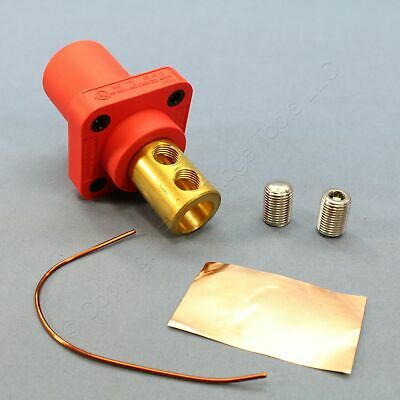 New Hubbell 16 Series Red Male Receptacle Panel Mount Dual Set Screw 400A HBLMRR