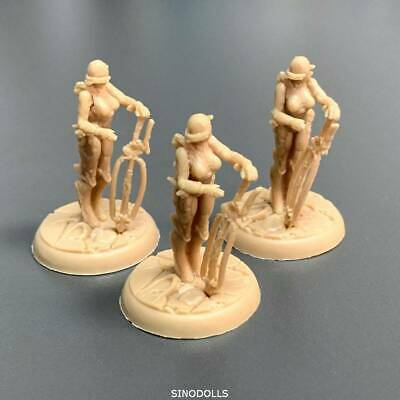 Used 3x Lady For Dungeons & Dragon D&D Nolzur's Marvelous Miniatures figure