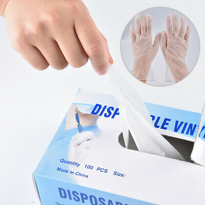 M/L 100X Medical Disposable Protector Gloves Vinyl Latex Powder Free Non Sterile