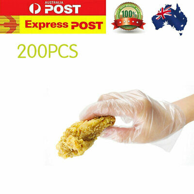 200Pcs Children Disposable Transparent Gloves Safety Hygiene Non-slip Gloves AU