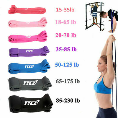 Resistance Bands Loop Workout Exercise Yoga Crossfit Fitness Home Gym Workout UK