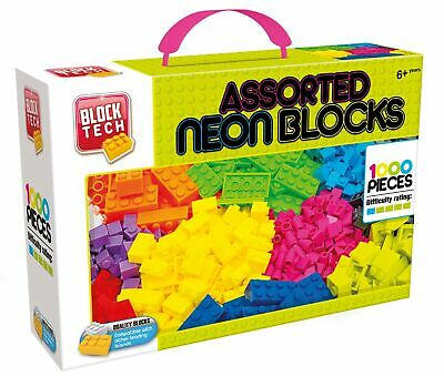 1000 Pieces Block Tech Neon Assorted Building Blocks Bricks Compatible with Lego