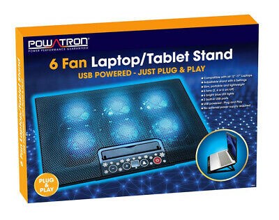Laptop Cooler Notebook Tablet Stand With 2 USB Ports And 6 Silent Cooling Fans*