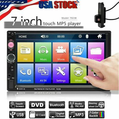 7 Inch DOUBLE 2DIN Car MP5 Player Bluetooth Tou+ch Screen Stereo Radio HD+Camera
