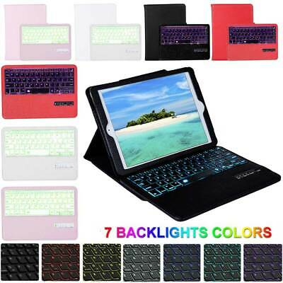 For Apple iPad 10.2 7th Generation 2019 Wireless Keyboard PU Leather Smart Cover