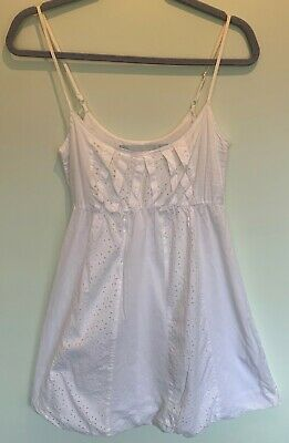 River Island White Cotton Slip Dress Size 10